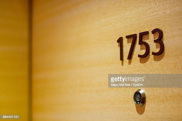 Close-Up Of Number 1753 On Door