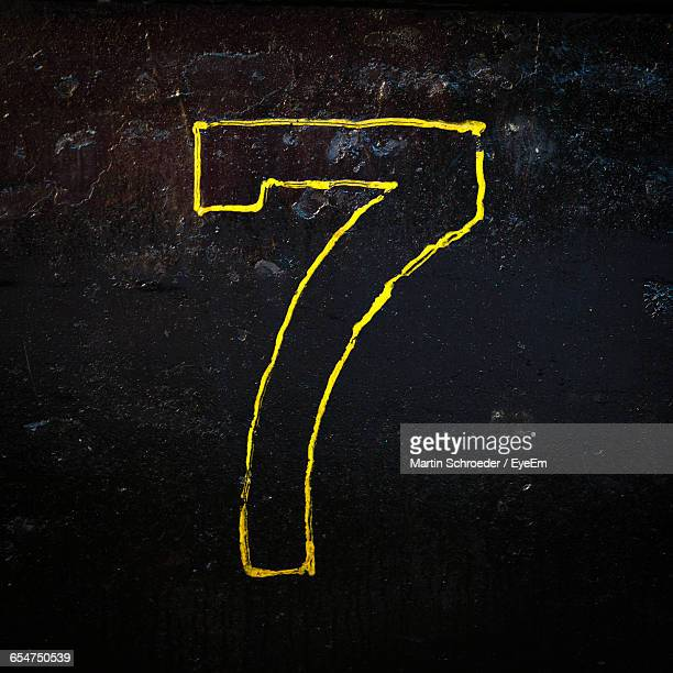 Close-Up Of Number 7 On The Wall