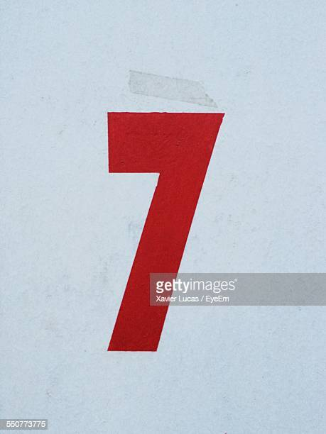 Close-Up Of Number 7