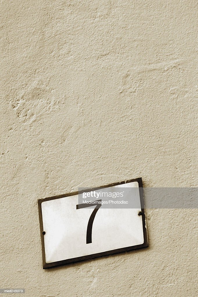 Close-up of number 7 : Stock Photo