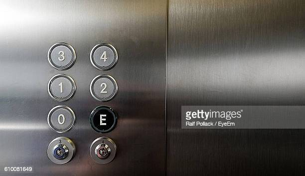 Close-Up Of Numbers On Buttons In Elevator