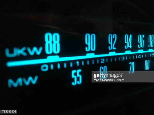 close-up of numbers on machinery - radio stock pictures, royalty-free photos & images