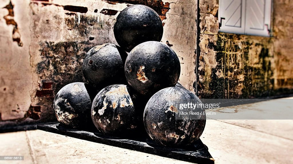 Closeup Of Old Bowling Balls Stock Photo Getty Images