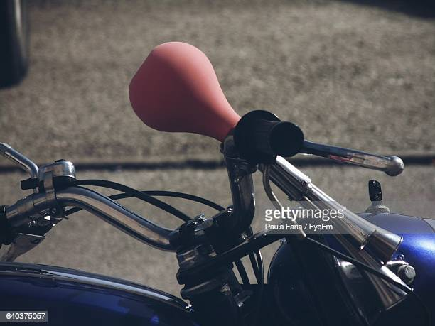 Close-Up Of Old Car Horn On Motorcycle