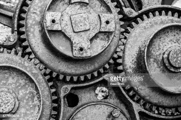 Close-up of old gears