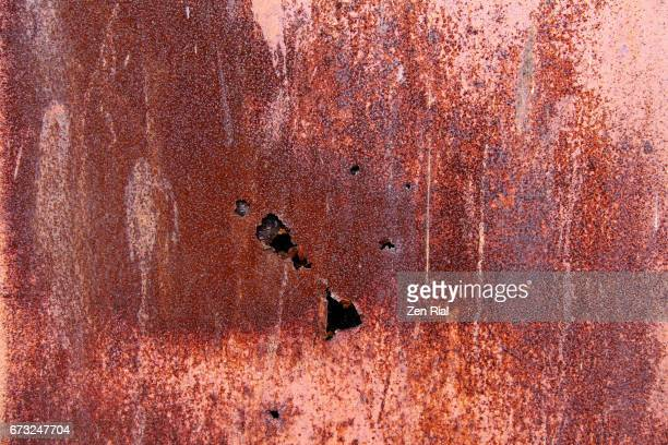 Close-up of Old Rusty Wall