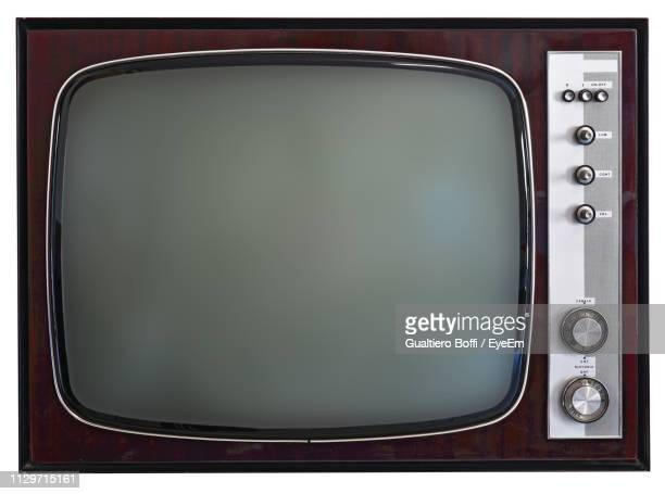 close-up of old television set - television set stock pictures, royalty-free photos & images