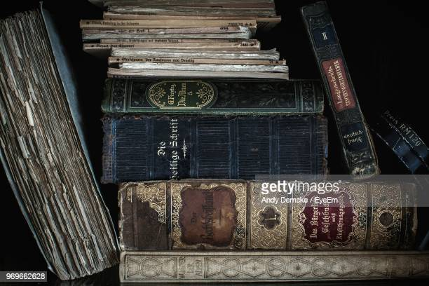 Close-Up Of Old Weathered Books