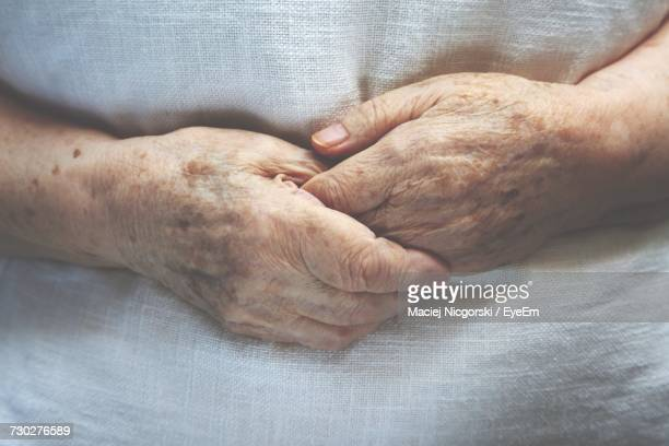 Close-Up Of Old Womans Hands