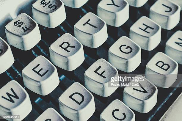 Close-Up Of Old-Fashioned Computer Keyboard