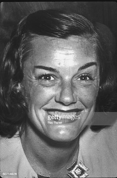 Closeup of Olympic swimmer Eleanor Holm at a nightclub