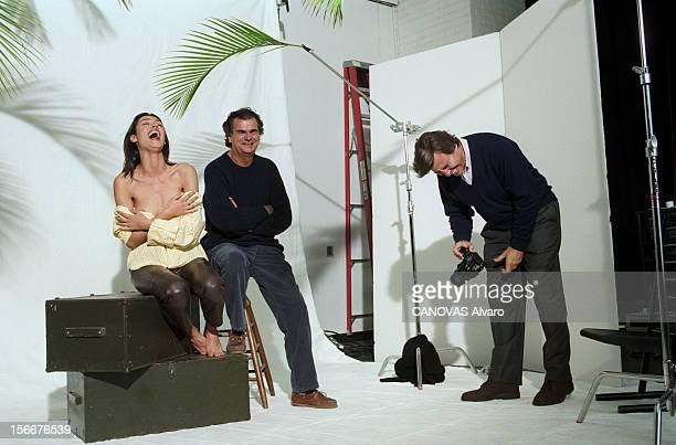 Closeup Of On John Casablancas Founder Of The Elite Modelling Agency In New York United States A NewYork le 25 février 1994 fou rire du fondateur de...