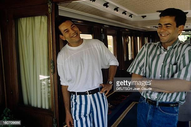 Close-up Of On The Crown Prince Of Morocco Sidi Mohammed. Salé - 7 septembre 1992 - Lors d'une séance de portraits du prince héritier SIDI MOHAMMED...
