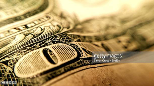 Close-Up Of One Dollar Currency