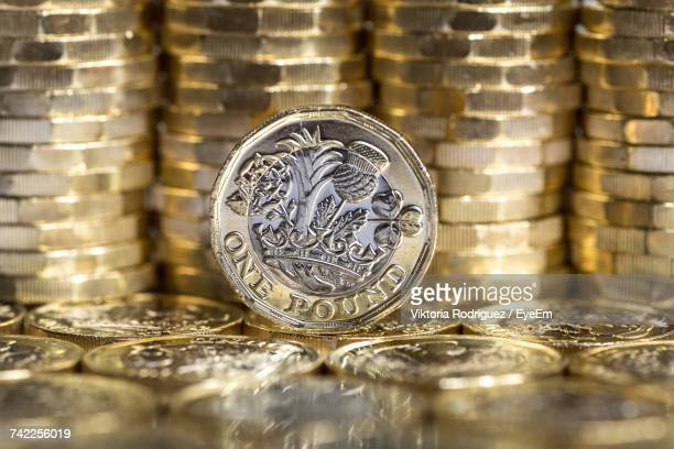 Close-Up Of One Pound Coin