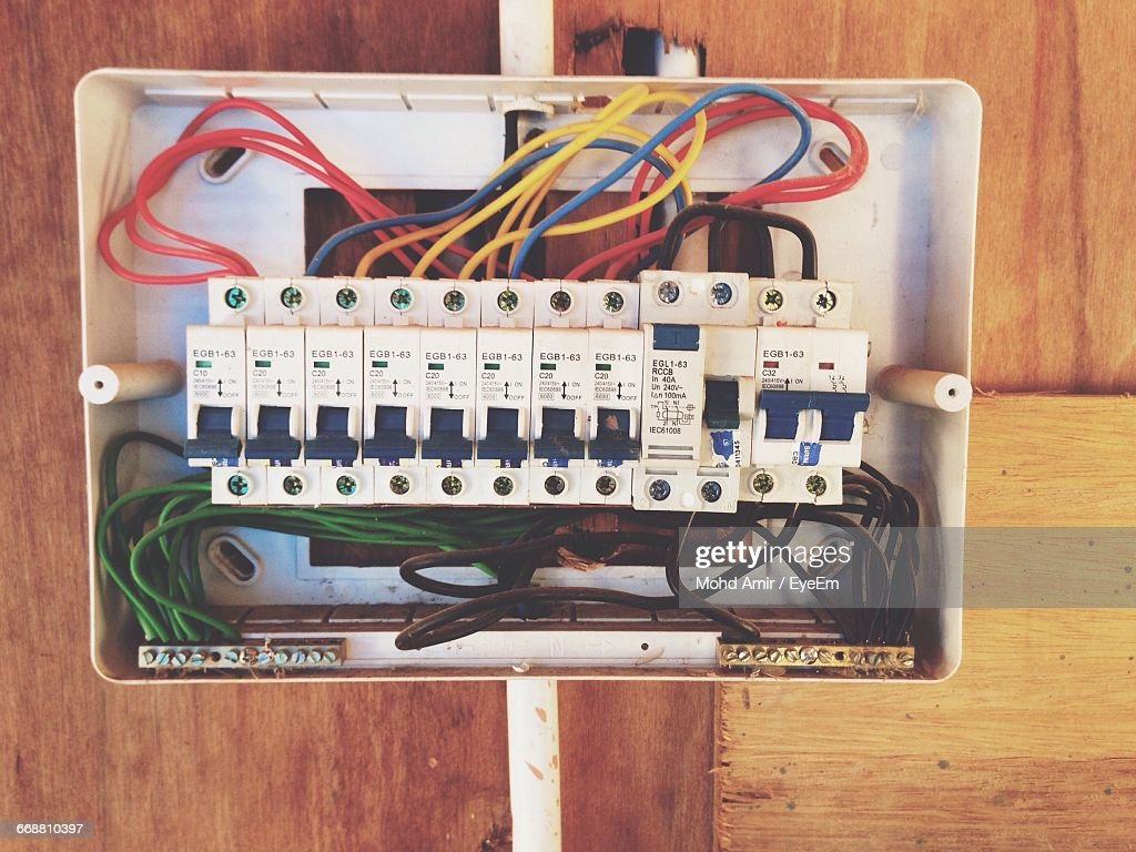 Amazing Closeup Of Open Fuse Box Stock Photo Getty Images Wiring Cloud Oideiuggs Outletorg
