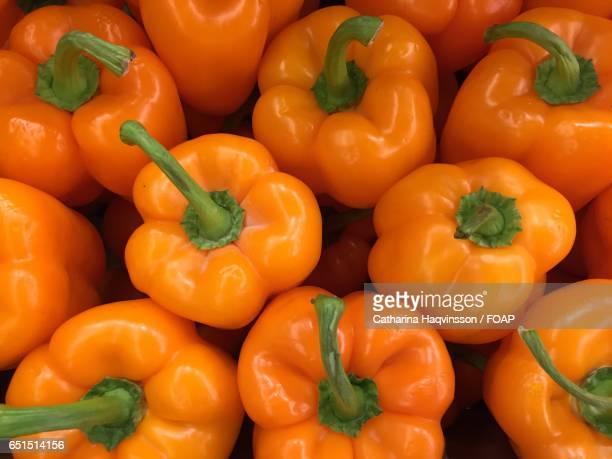 Close-up of orange bell pepper