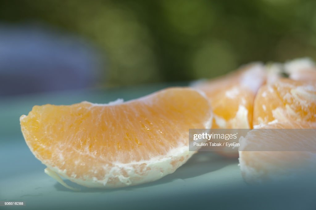 Close-Up Of Oranges In Plate : Stockfoto