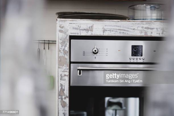 Close-Up Of Oven In Kitchen