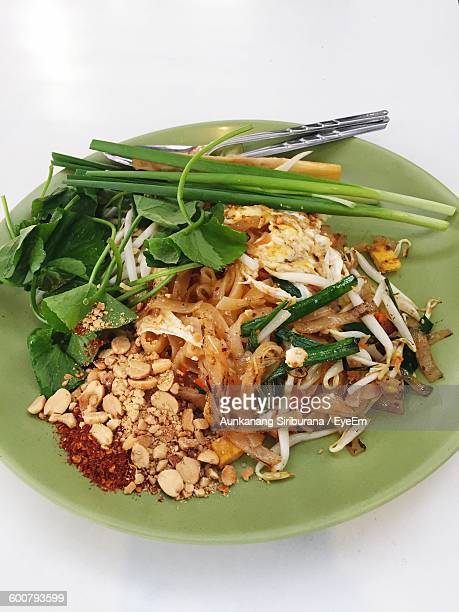 Close-Up Of Pad Thai Noodles In Plate