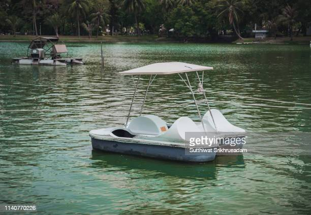 close-up of paddle boat - pedal boat stock pictures, royalty-free photos & images