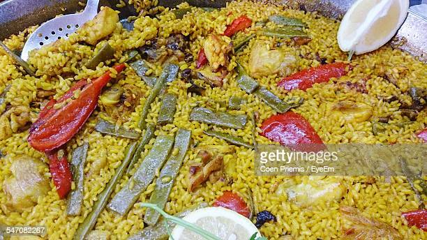 Close-Up Of Paella With Chicken