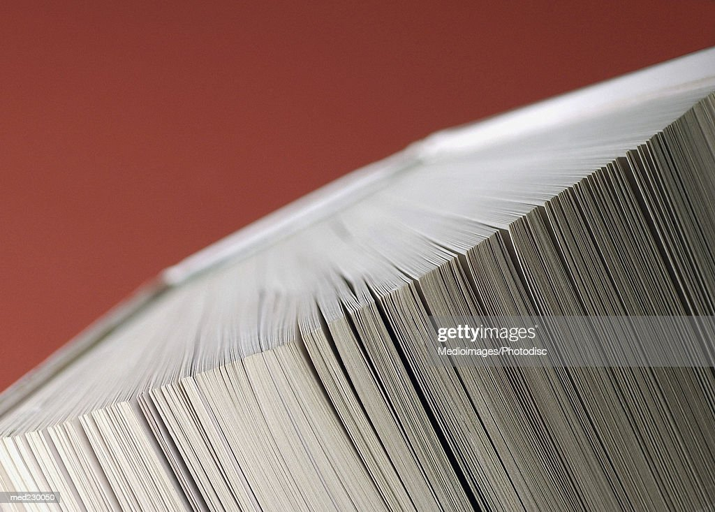Close-up of pages of a closed book : Stock Photo