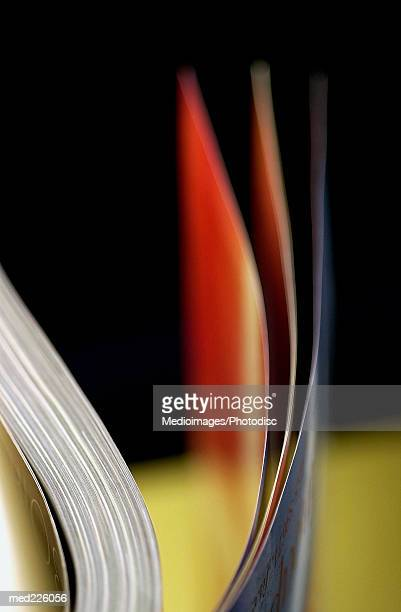 Close-up of pages of an open book