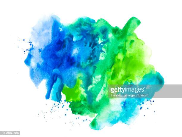 Close-Up Of Paint Stain Over White Background