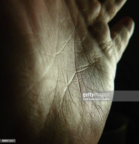 Close-Up Of Palmistry Hand