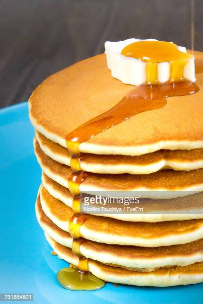 Close-Up Of Pancakes On Table