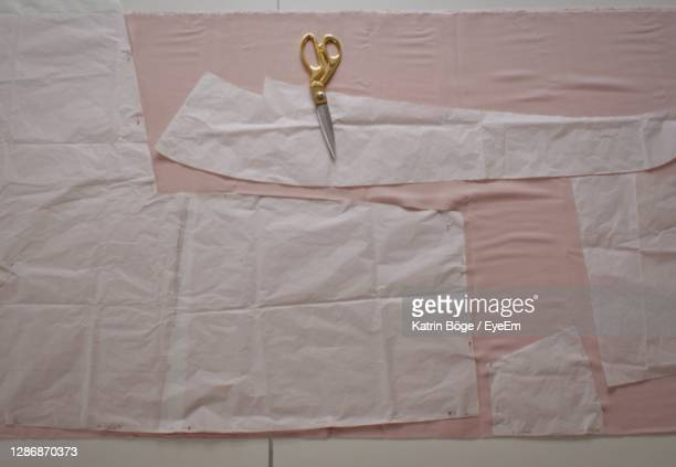 close-up of paper and fabrics - millennial pink stock pictures, royalty-free photos & images