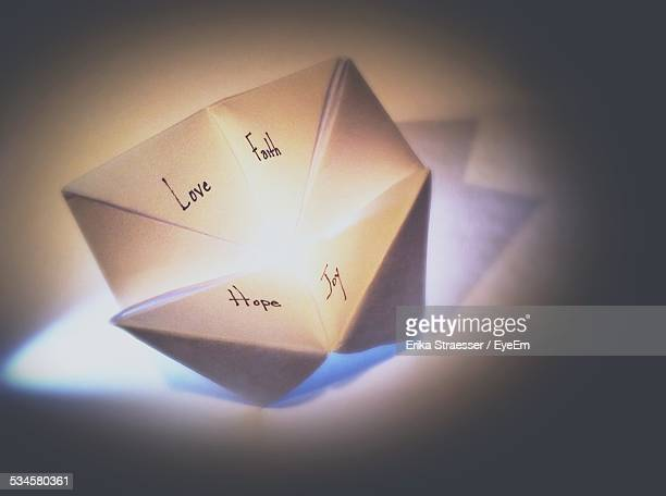Close-Up Of Paper Fortune Teller