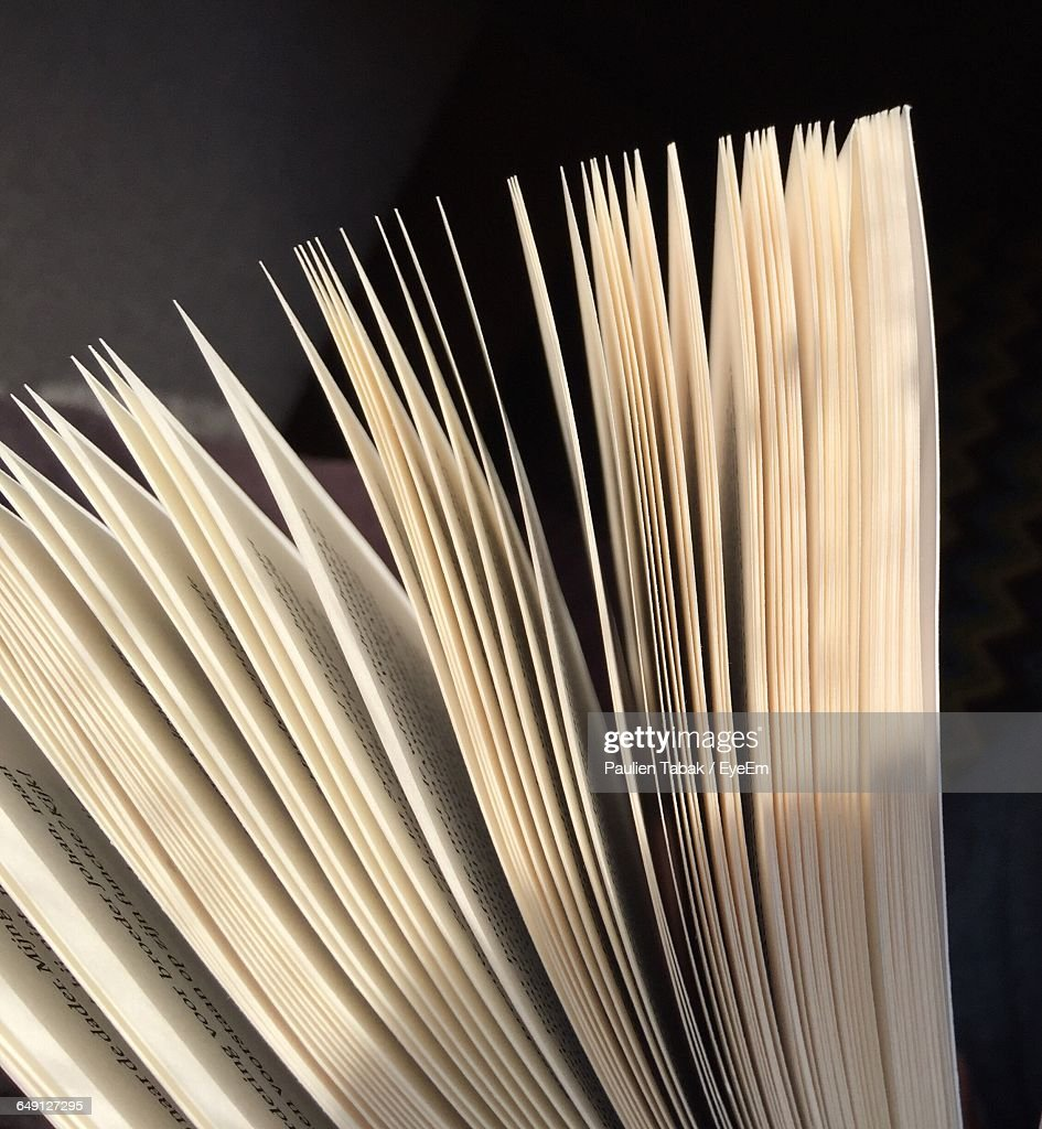 Close-Up Of Papers : Stockfoto