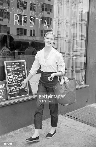 Close-Up Of Patricia Bosworth, Student Of Lee Strasberg Actor'S Studio In New York. En 1959, aux Etats Unis, à New York, la jeune actrice Patricia...