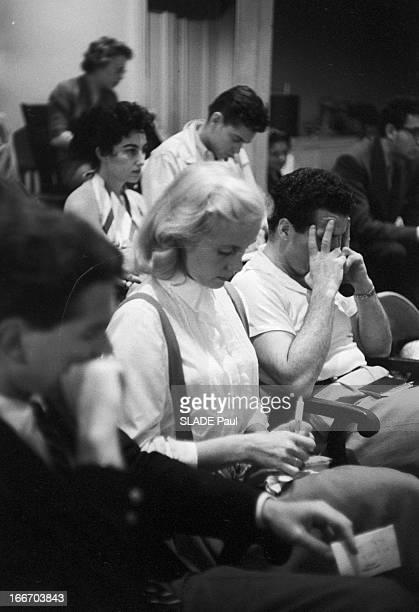 Close-Up Of Patricia Bosworth, Student Of Lee Strasberg Actor'S Studio In New York. En 1959, aux Etats Unis, à New York, Eva Marie SAINT parmi les...