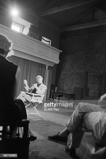 CloseUp Of Patricia Bosworth Student Of Lee Strasberg Actor'S Studio In New York En 1959 aux Etats Unis à New York Le professeur d'art dramatique Lee...