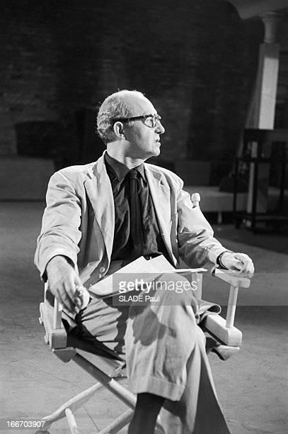 Close-Up Of Patricia Bosworth, Student Of Lee Strasberg Actor'S Studio In New York. En 1959, aux Etats Unis, à New York, Le professeur d'art...