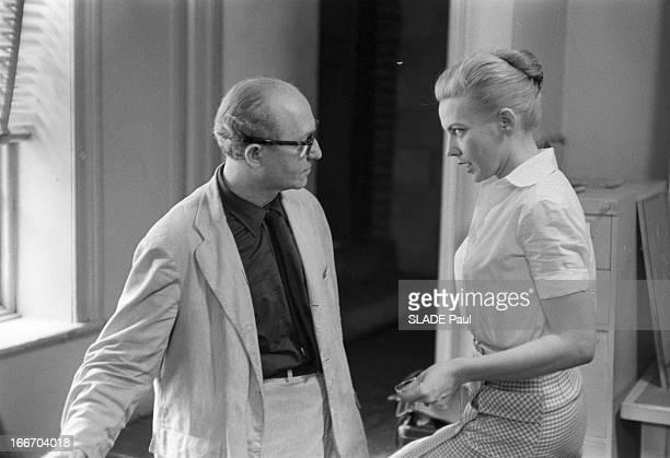 CloseUp Of Patricia Bosworth Student Of Lee Strasberg Actor'S Studio In New York En 1959 aux Etats Unis à New York Lee STRASBERG le directeur de...