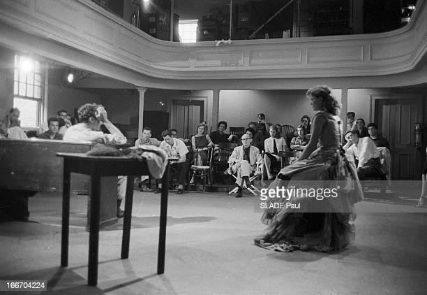 Close-Up Of Patricia Bosworth, Student Of Lee Strasberg Actor'S Studio In New York. En 1959, aux Etats Unis, à New York,dans le cadre d'un cours à...