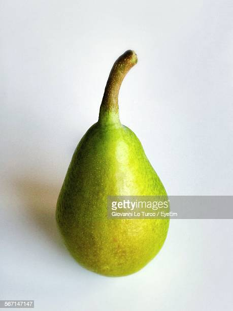 Close-Up Of Pear Against White Background