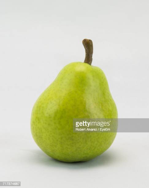 Close-Up Of Pear On White Background
