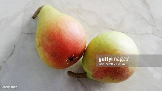 close-up of pears on table at home - massa stock pictures, royalty-free photos & images