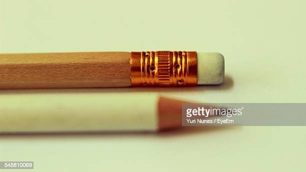 Close-Up Of Pencils On Table