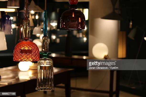 Close-Up Of Pendant Light Decoration At Home