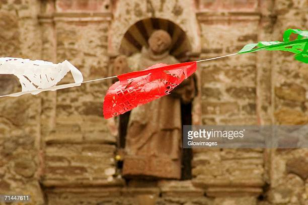 Close-up of pennants on a string, Mexico