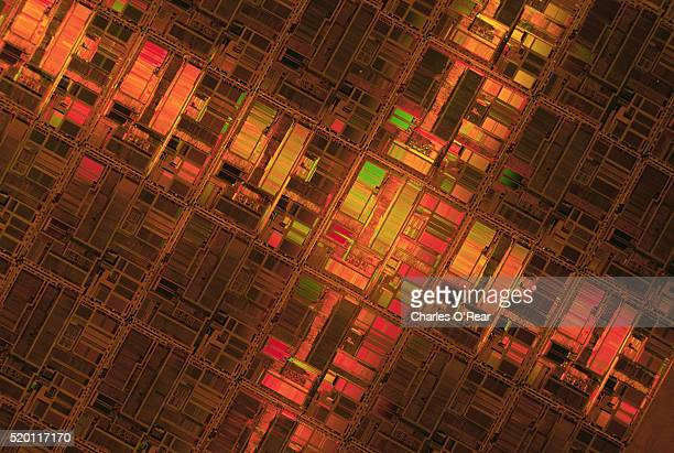 Close-up of Pentium Circuitry