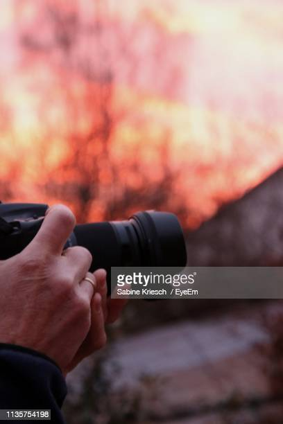 close-up of person photographing - sabine kriesch stock-fotos und bilder