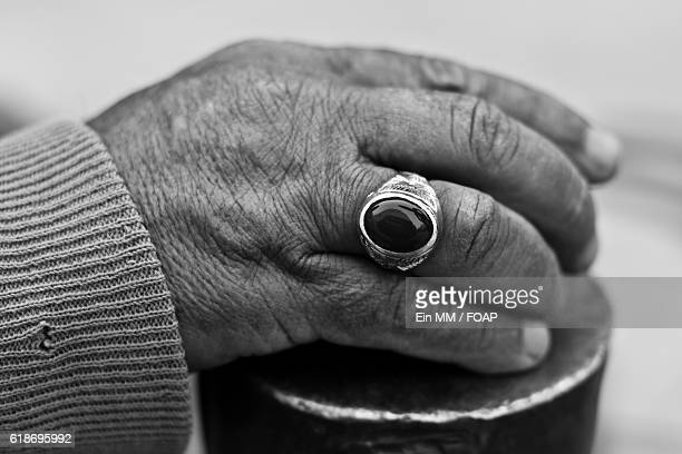 close-up of person's hand - saudi arabia stock photos and pictures
