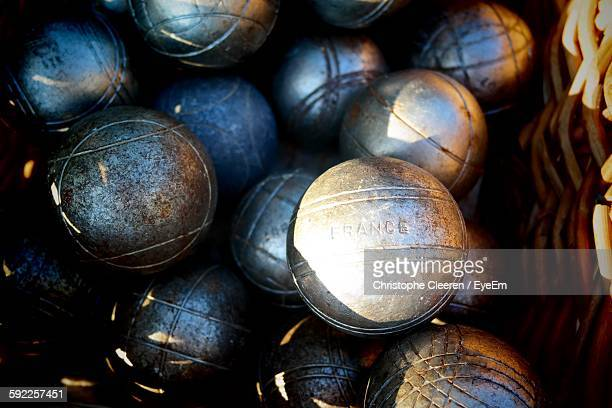 Close-Up Of Petanque Balls Outdoors